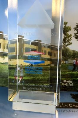 Corim remporte le prix régional de la conduite responsable des opérations pour son programme Bella castias