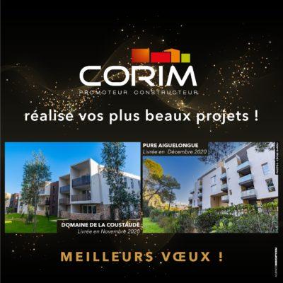 L'équipe CORIM vous adresse ses meilleurs vœux pour 2021 !